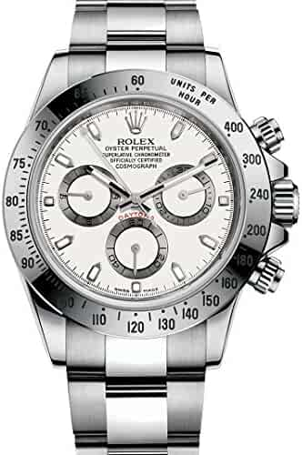 Rolex Cosmograph Daytona Stainless Steel Watch 116520 White Dial