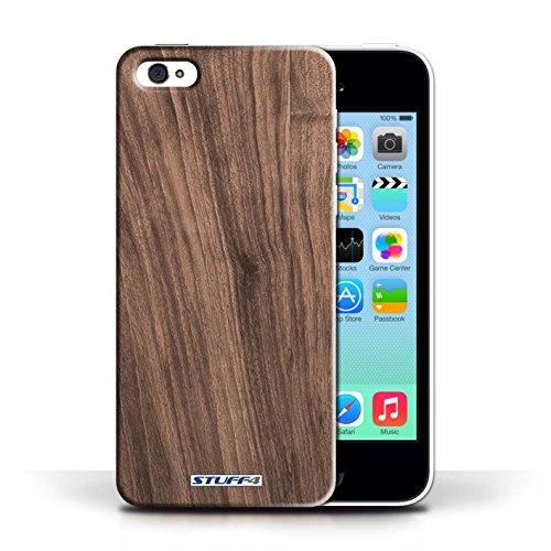 Hülle Case für Apple iPhone 5C / Nussbaum Entwurf / Holz/Holzmaserung Muster Collection