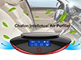 Chafon CF-20211 Intellectual Car Air Purifier Cleaner Freshener Ionize with Cigarette Adapter,HEPA Filter Removes Cigarette Smoke,Bacteria,Odor Smell,LCD Display Screen- Black