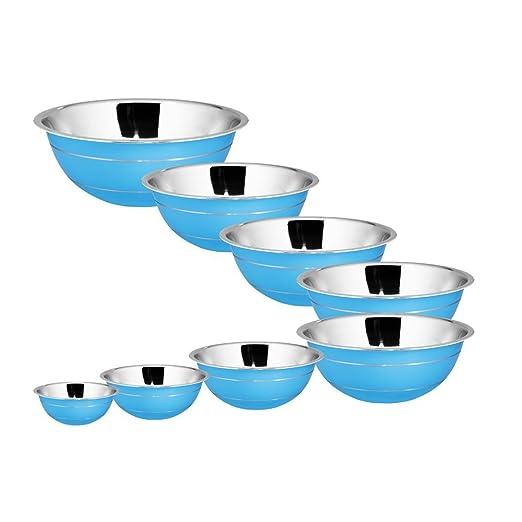2 opinioni per Kosma Set di 8 pezzi in acciaio inossidabile Terrina   Insalatiera fuori blu