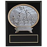 8''x10'' Black Marble Finish Basketball Plaque with Resin Action Mount FREE CUSTOM ENGRAVING