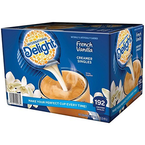 Creamer Fat Trans Non Dairy (International Delight French Vanilla, 192 Count Single-Serve Coffee Creamers, Special Value 1 Pack)