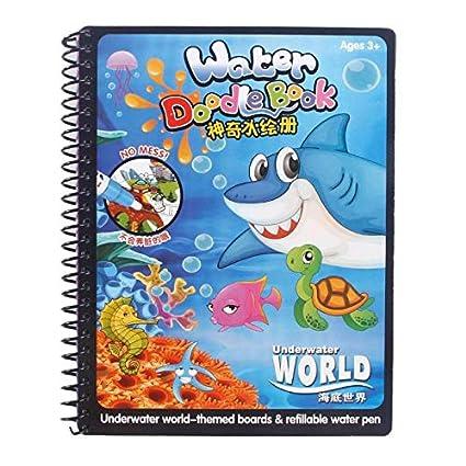 Amazon.com: 1 Piece Kids Magic Water Drawing Coloring Book ...