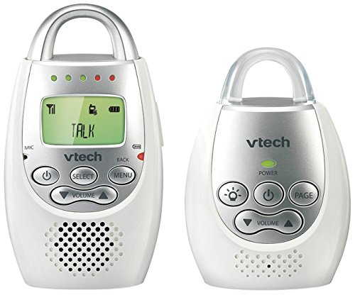 VTech DM221 Safe & Sound Digital AUDIO BABY MONITOR, BABY MONITOR, White Silver
