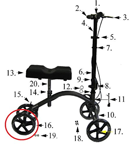 Replacement Parts for Drive 790 Knee Walkers (Wheel/Caster) (Walker Parts Wheels compare prices)