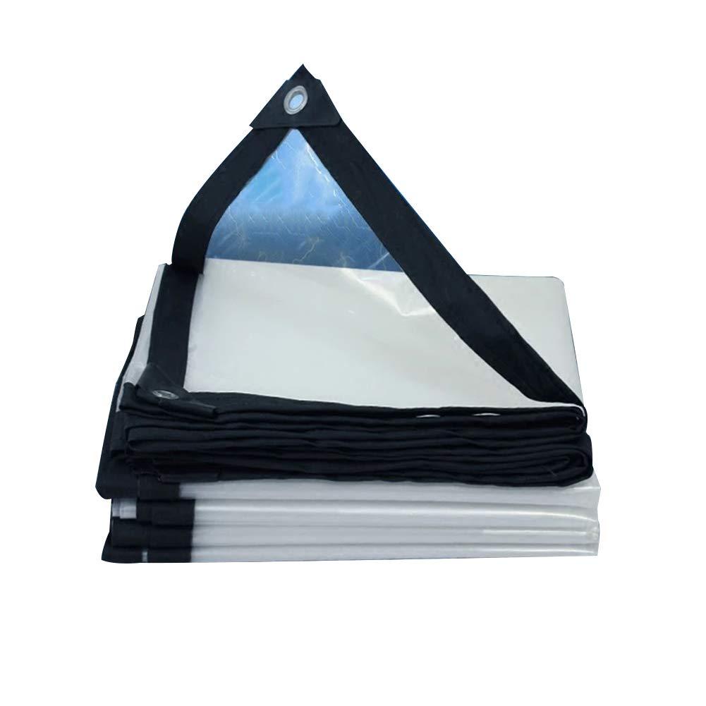 CLEAR 2X10M Tent, tarpaulin La bÂche de bÂches épaississent Le Tissu imperméable Transparent de Film Plastique imperméable, Taille Personnalisable