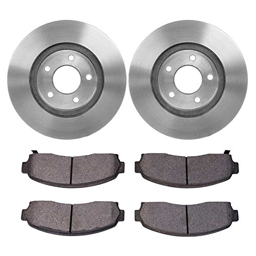 (Prime Choice Auto Parts RSCD65082-65082-913-2-4 4 Front Ceramic Brake Pads and 2 Front Brake Rotors)