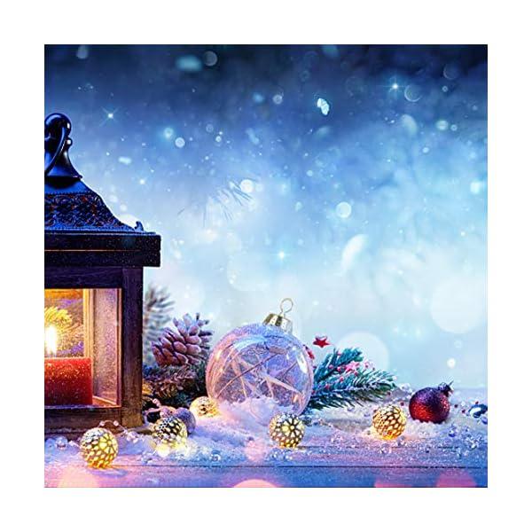 O-Kinee Palle di Natale Trasparenti,16 PCS Palle di Natale Palline Riempibili,Decorazione Natalizia Albero Natale,Decorazione Albero di Natale,per la Festa Compleanno Decorazioni di Nozze (16pcs) 7 spesavip
