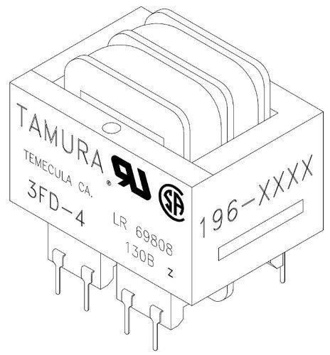 1 piece Power Transformers 12.6VAC CT 6.0VA Dual Primary