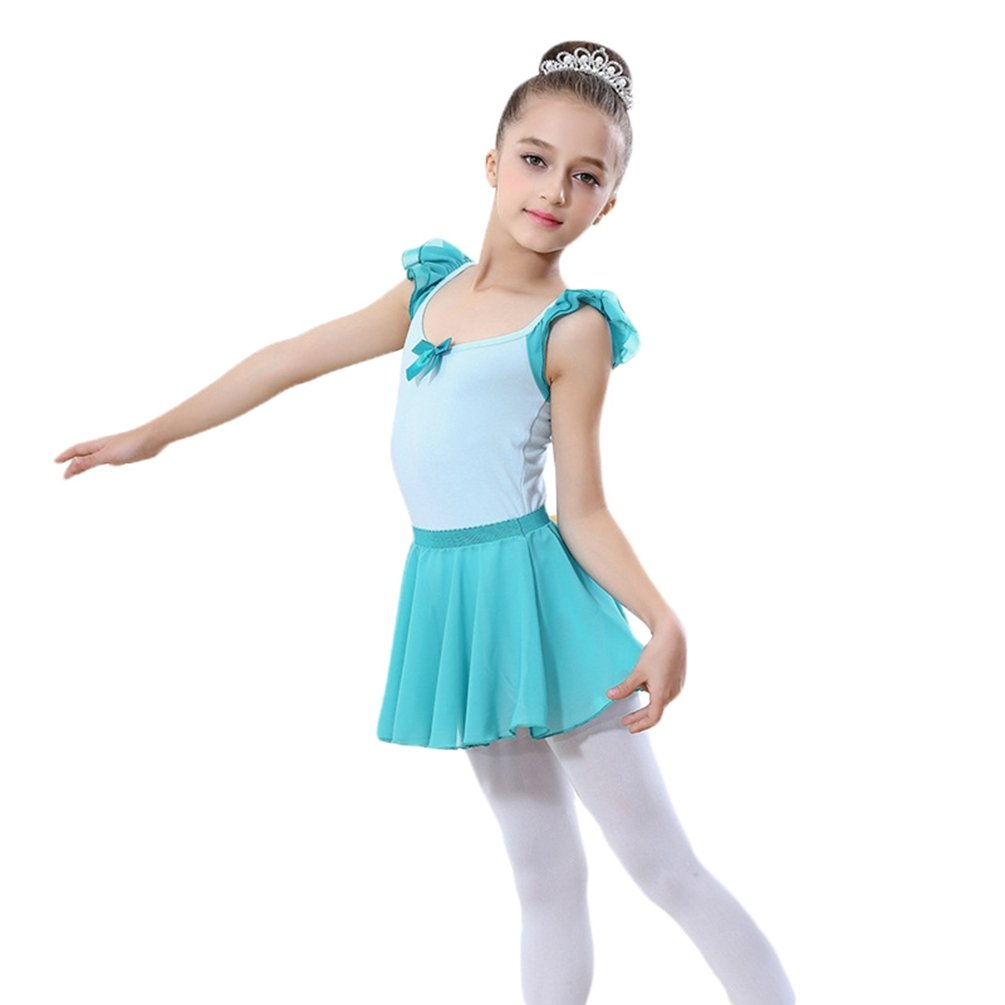Yiiquan Ragazze Il Body da Danza Classica con Gonnellino Balletto Abito Skate Tutu Gonna