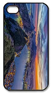 thin cover rio de janeiro evening PC Black Case for iphone 4/4S