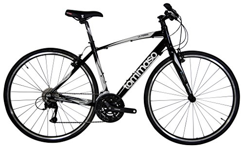Tommaso La Forma Lightweight Aluminum Hybrid Bike -Black/White - Medium Tommaso