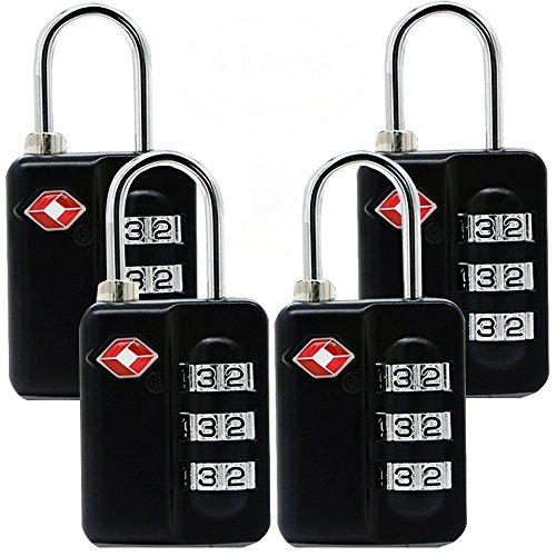 Luggage Locks 4Pack Combination Padlocks product image