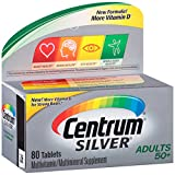 Centrum Silver Adult (80 Count) Multivitamin/Multimineral Supplement Tablet, Vitamin D3, Age 50+