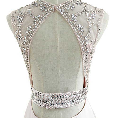 White Prom Women's DKBridal Dress Beaded Gown Evening Mermaid Bridal Long Crystals qBZpvw