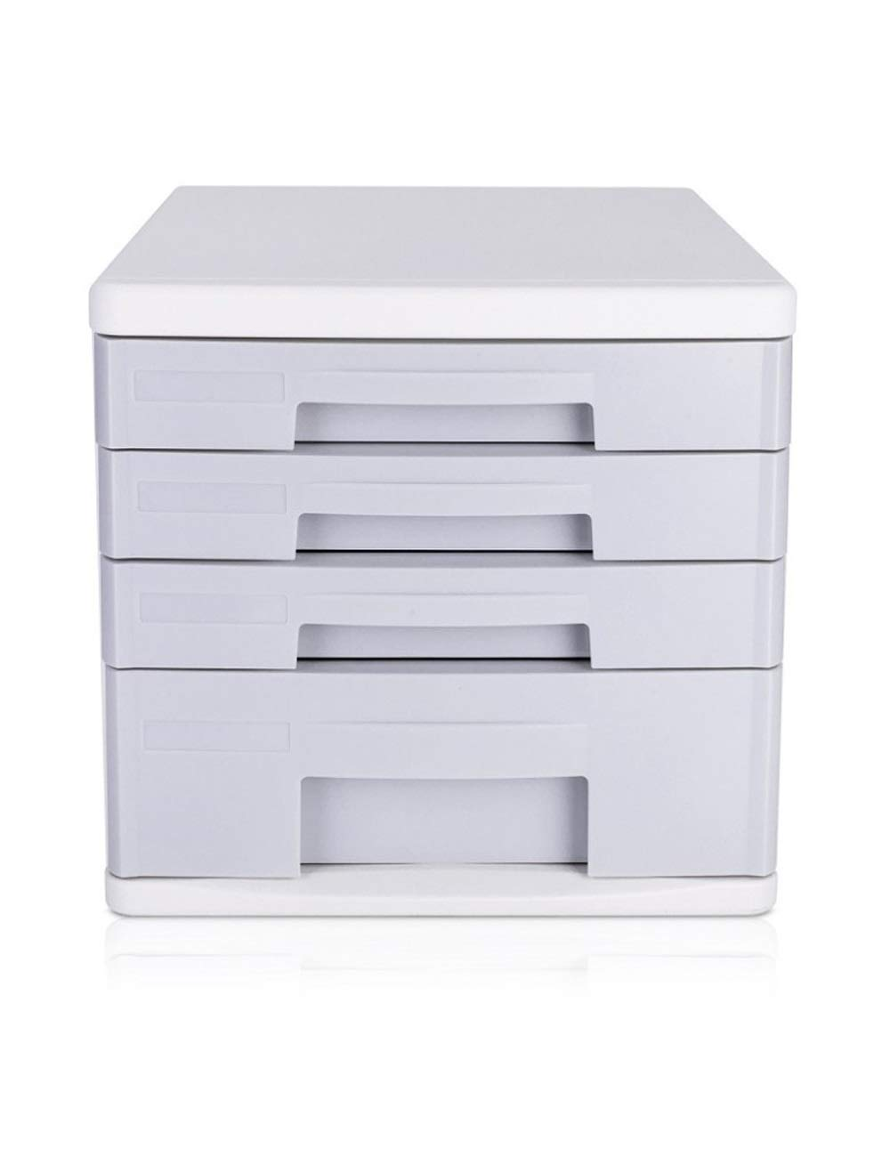 File Cabinet Ight Grey Desktop Drawer Type Stationery Cabinet 4th Floor A4 Plastic Data Cabinet Storage Box Storage Filing cabinets