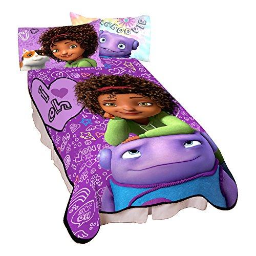 """Dreamworks Home I Love Oh Micro Raschel Blanket, 62"""" x 90"""""""