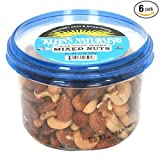 Klein's Naturals Mixed Nut (With Peanuts), Roasted, Unsalted, Shelled, 10-Ounce Tubs (Pack of 6)