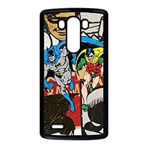 Batman and Robin Vintage LG G3 Cell Phone Case Black phone component AU_597902