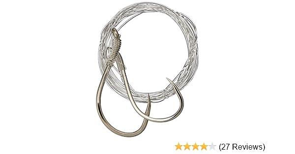 4//0 Hooks Nickel Gamakatsu Solid Tie Mooching Rig 3//0 25-Pounds Leader