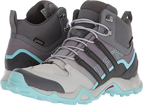 adidas Terrex Swift R Mid GTX Boot Women's Hiking 11 Grey-Utility Black-Clear Aqua by adidas