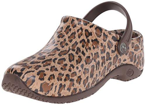 Anywear Women's Zone Work Shoe, Leopard Print, 10 M US