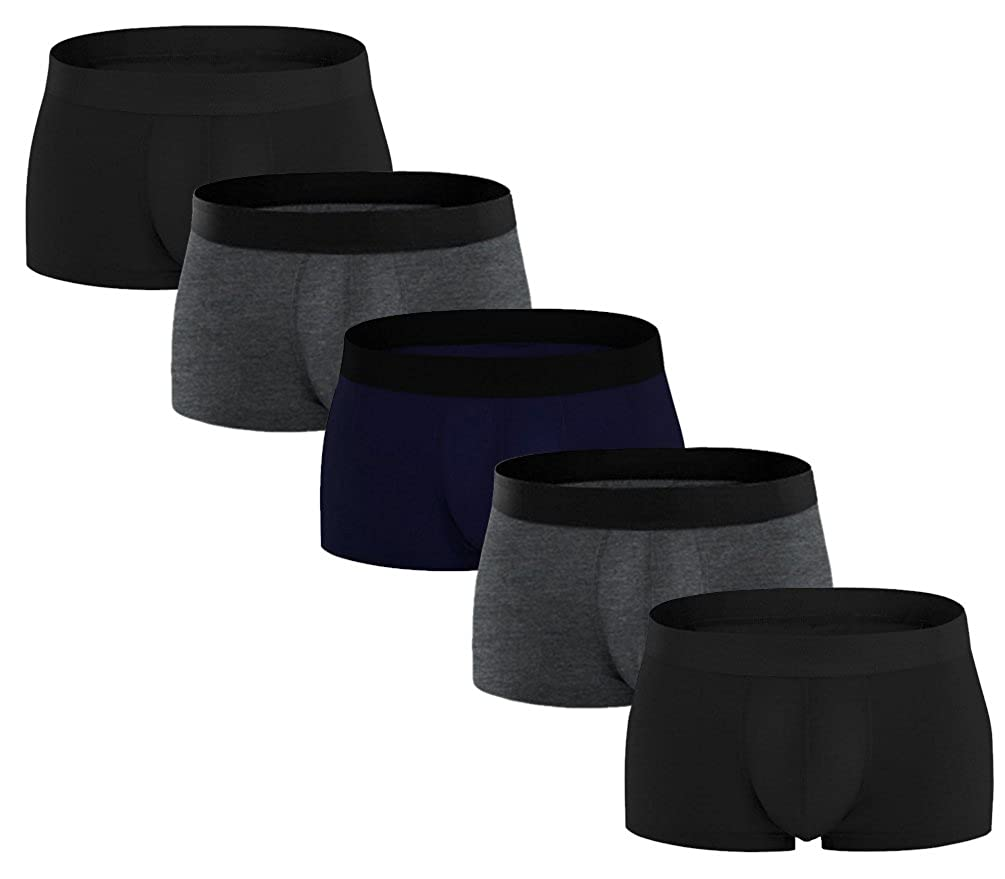 DealHouse Men's 5 Pack Pure Cotton Underpants Stretch U Convex Short Legs Underwear lyy76071123