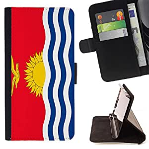 - Flag - - Premium PU Leather Wallet Case with Card Slots, Cash Compartment and Detachable Wrist Strap FOR Samsung Galaxy A3 a3000 King case