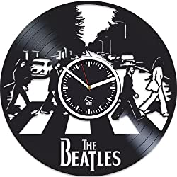 The Beatles Rock Band, Paul Mccartney Lennon, Home Decals, Vinyl Wall Clock, Handmade Best Gift For Musician, Vinyl Record, Kovides, Valentines Day Gift, Beatles Birthday Gift, Unique Design