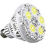 SANSI 30W LED Plant Light Bulb Full Spectrum LED Grow Light Plant Lights for Indoor Plants, E26 Grow Light Bulb for Hydroponics Greenhouse Houseplants Vegetable Tobacco, Sunlight White UV&IR, 90-132V