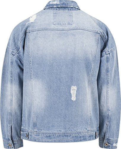 Hombre Classics Azul Jacket Bleached para Denim Ripped Urban Chaqueta HYBq1Zww