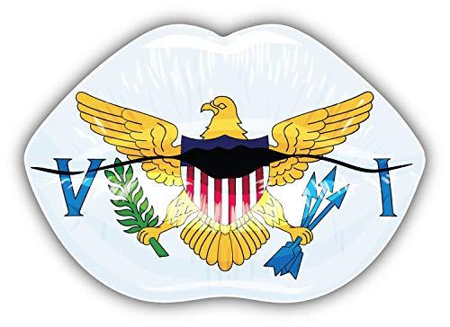 KW Vinyl Virgin Islands Flag Lips Truck