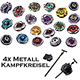 Rapdity Kreisel f/ür Beyblade Twisted Tempo Metall Fusion Metal Masters 4D Kampfkreisel inkl Launcher