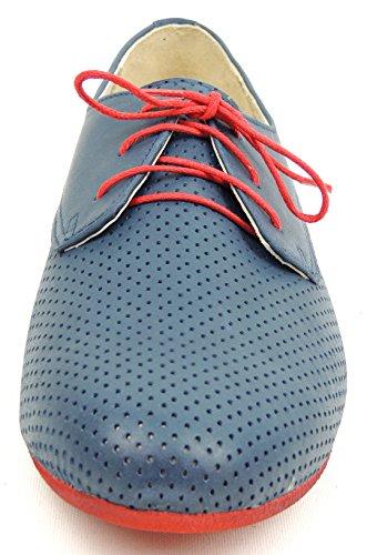MICCOS - Zapatos de cordones para mujer Azul azul Azul - azul