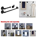 Industrial Pipe Bathroom Hardware Fixture Set by Pipe Decor 3 Piece Kit Includes Robe Hook, 18 Inch Towel Bar and Toilet Paper Holder, Heavy Duty DIY Style, Modern Chic Electroplated Black Finish 7