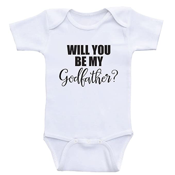 1905e2bbb Heart Co Designs Godparent Baby Onesies Will You Be My Godfather One Piece Baby  Clothes (