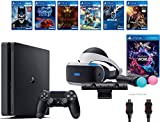 PlayStation VR Launch Bundle 8 Items:VR Launch Bundle,PlayStation 4 Slim 1TB ,6 VR Game Disc Until Dawn: Rush of Blood,EVE: Valkyrie, Battlezone, Batman: Arkham VR, DriveClub, Battlezone