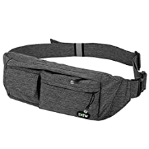 Waist Bag Money Belt Pouch EOTW,Fanny Pack Chest Bag With 4 Pockets for Traveling Sports Hiking Holiday Men Women Holder Cell Phone,Passport,Cards,Cash and Other Belongs - Grey
