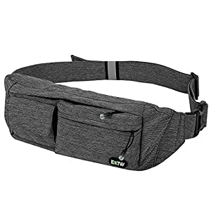 EOTW Waist Pocket Chest Bag Travel Pocket Sling Chest Shoulder Bag Pack Sports Phone Holder Case Fanny Pack Exercise Waist Bag Belt For iPhone 6 6S Plus 5S, Galaxy S4 S5 S6 S7 Edge, Note 5 4 3 -Grey