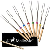 MalloMe Marshmallow Roasting Smores Sticks – Camping...