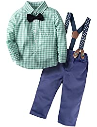 Baby Boys' 3 Piece Gentle Pants Clothing Set With Bowtie H03