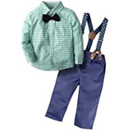 [Sponsored]BIG ELEPHANT Baby Boys' 2 Pieces Gentle Pants Clothing Set with Bowtie