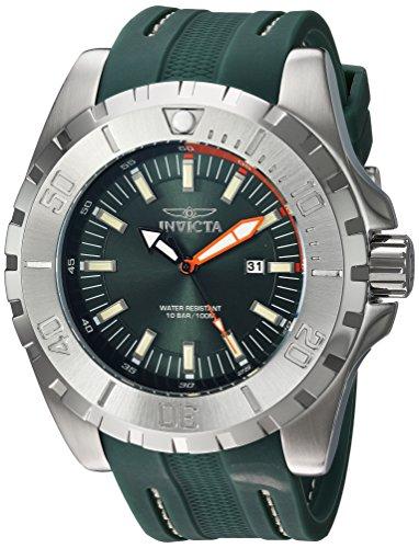 (Invicta Men's Pro Diver Stainless Steel Quartz Watch with Polyurethane Strap, Green, 26 (Model: 23738)
