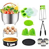 13PCS Instant Pot Accessories Fits 6,8 Qt - Steamer Baskets, Springform Pan, Egg Steamer Rack, Egg Bites Mold & More Fits 6, 8 Qt InstaPot, Ninja Foodi, Other Pressure Cookers