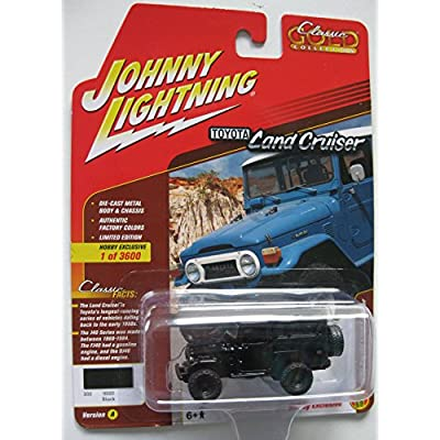 Johnny Lightning JLSP004-24A 1: 64 1980 Toyota Land Cruiser, Black: Toys & Games
