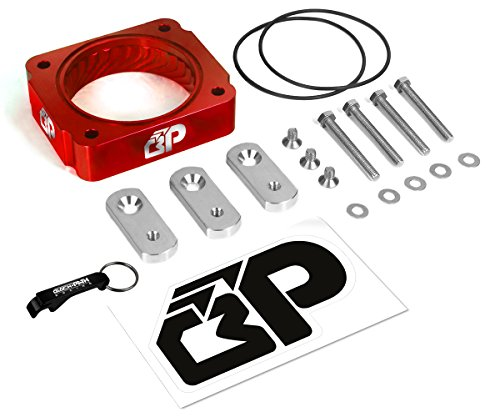 BlackPath - Mustang Throttle Body Spacer Ford Performance (Red) T6 (Mustang Intake Spacer)