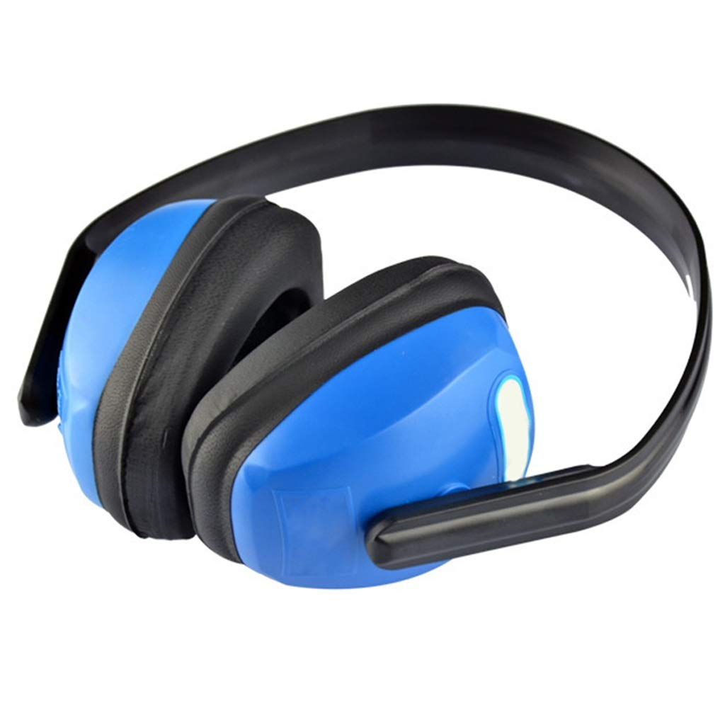Noise Cancelling Headphones, Head-Mounted Adult Soundproof Earmuffs Noise Reduction Headphones (Blue) by Noise canceling headphones (Image #5)