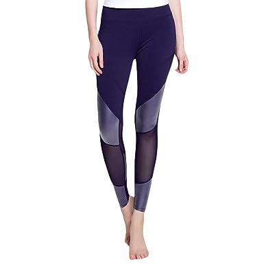 Dexinx Garment Legging Sport Femme Pantalon Yoga avec Poche Taille Haute  Amincissant Bleu Marin L 74486265dba
