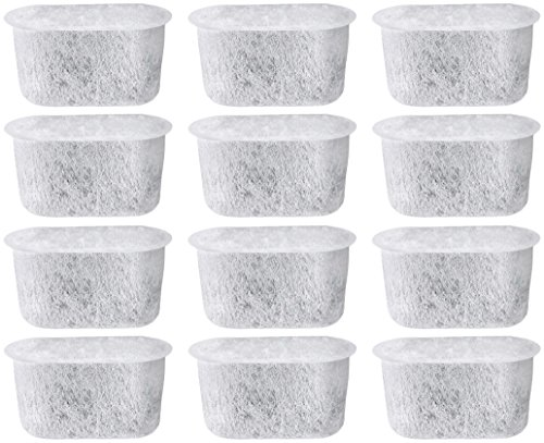 NISPIRA 12 Activated Charcoal Water Filters Replacement for Cuisinart Coffee Machine Part DCC-RWF (Cuisinart Coffee Filter Paper compare prices)