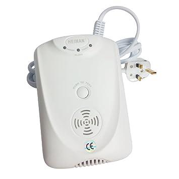 Detector de Gas Natural independiente heiman LPG Gas Detector alarma con MCU procesamiento HM-712NS-AB: Amazon.es: Bricolaje y herramientas